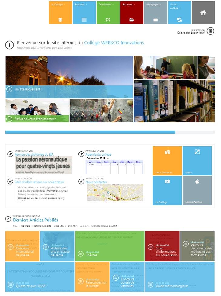 58f017fd802 ≡ Modèles et exemples de sites internet scolaire pour école collège ...